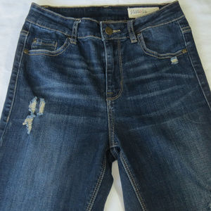Pistola Jeans - PISTOLA Dark Wash High Rise Destroyed Skinny Jeans
